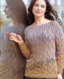 Пуловер косы