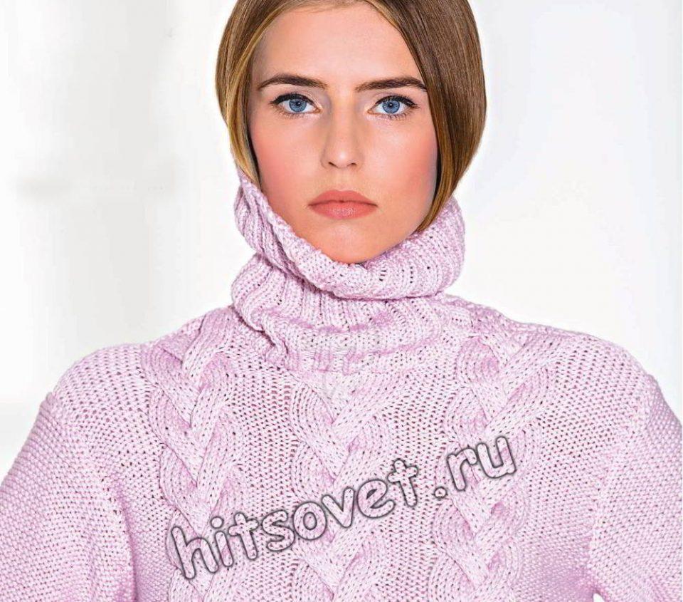 Свитер с косами для женщин, фото 2.