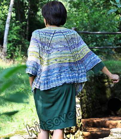 Модная вязаная накидка, фото 2.