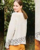 Свободный пуловер реглан с цветочными мотивами