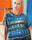 Вязание с дырками модного топа