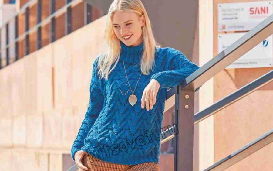 Классический осенний свитер для женщин, фото.