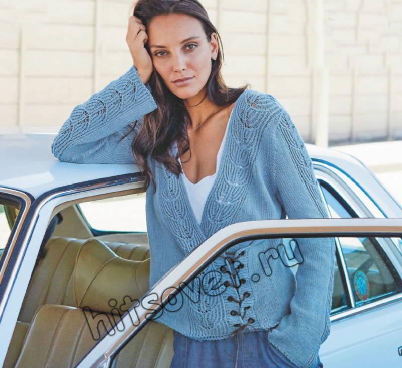Модный пуловер с запахом