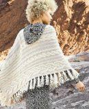 Прямоугольная шаль с косами