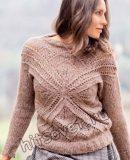 Вязаный пуловер с крестообразным мотивом