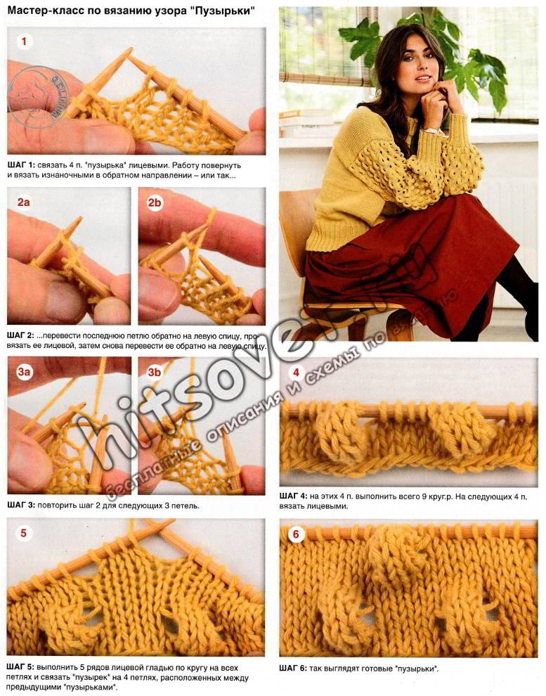 Модный свитер с рукавами фонариками, мастер класс.