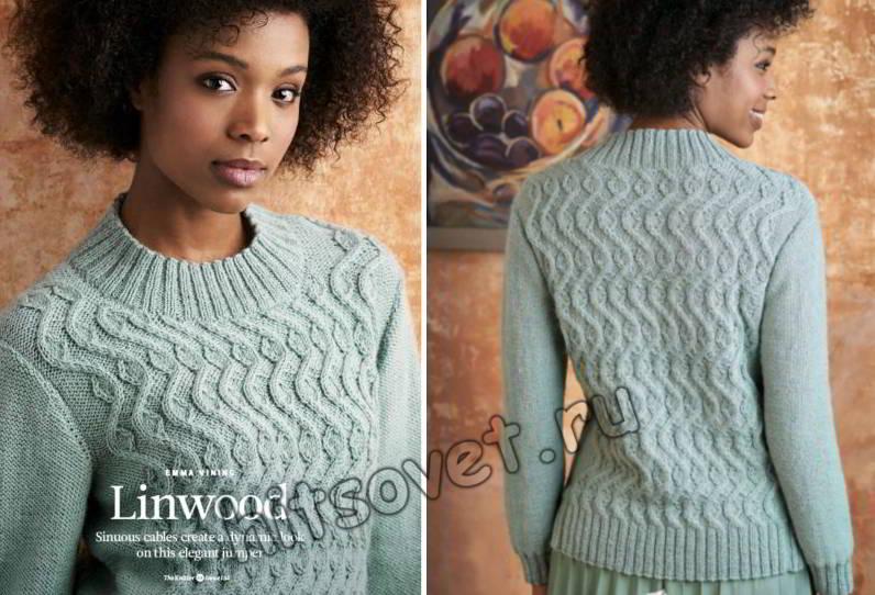 Вязание женского свитера Linwood
