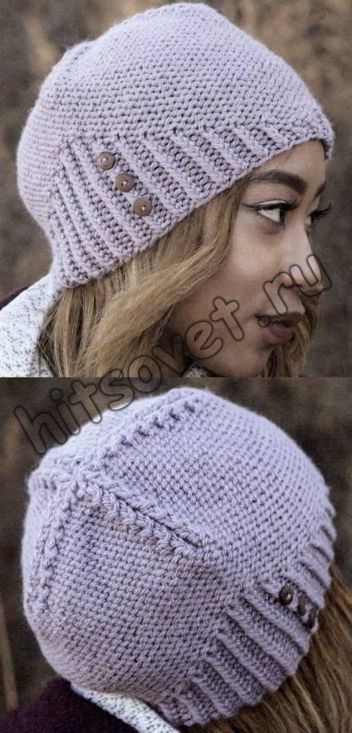Облегающая шапка бини, фото 2.