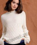 Белый свитер реглан