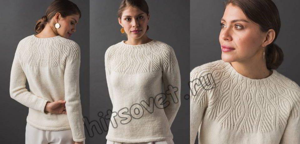 Модный вязаный пуловер Undulating Lines, фото.
