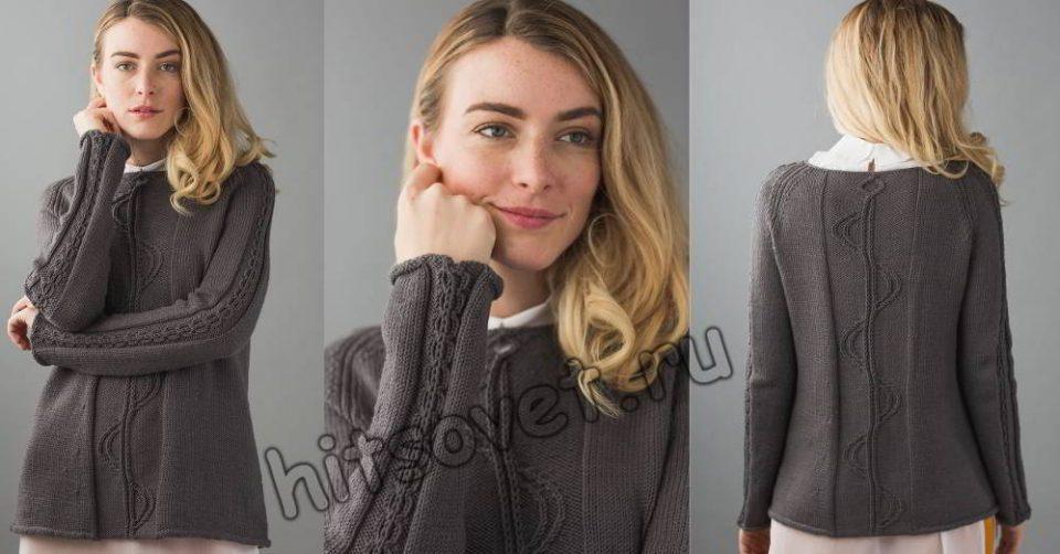 Вязание пуловера Fourier Raglan, фото.