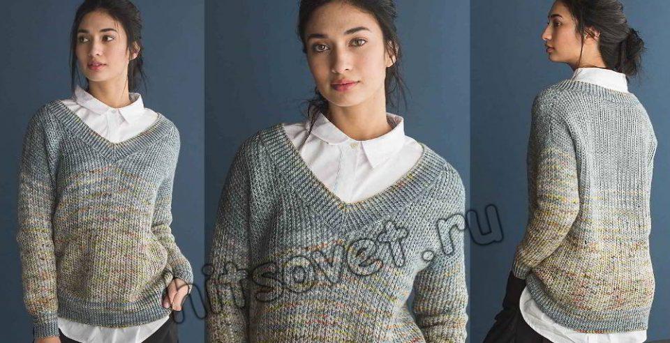Вязание пуловера Murray, фото.