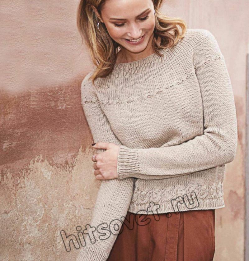Вязание свитера единым полотном, фото.
