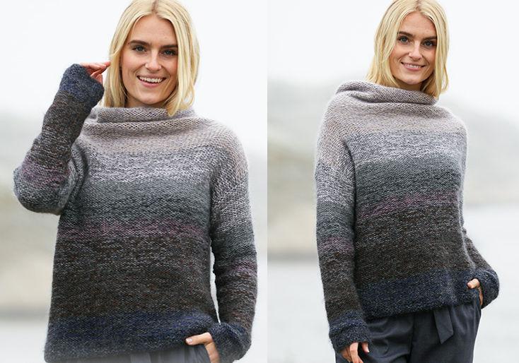 Стильный вязаный свитер Cloudscape, фото.