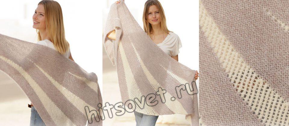 Вязание шали Morning Rays, фото.