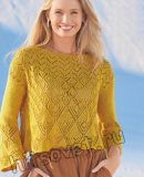 Красивый летний ажурный пуловер