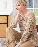 Стильный летний пуловер крючком