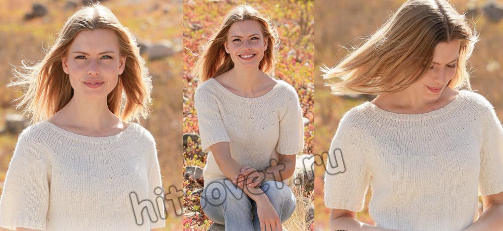 Вязание футболки White Dove