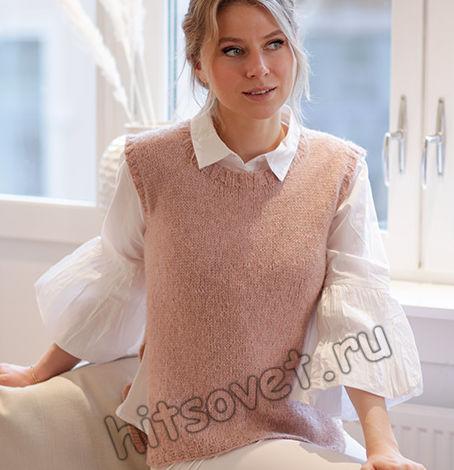 Вязание жилета Rose Blush, фото 1.