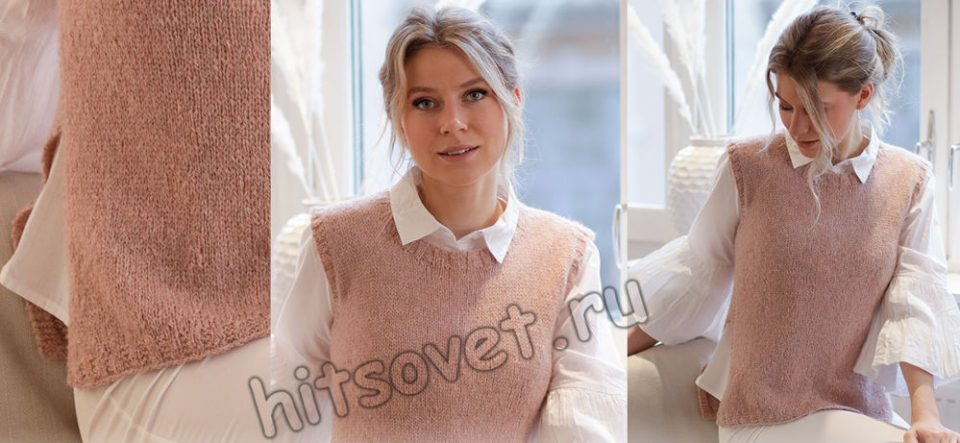 Вязание жилета Rose Blush, фото 2.