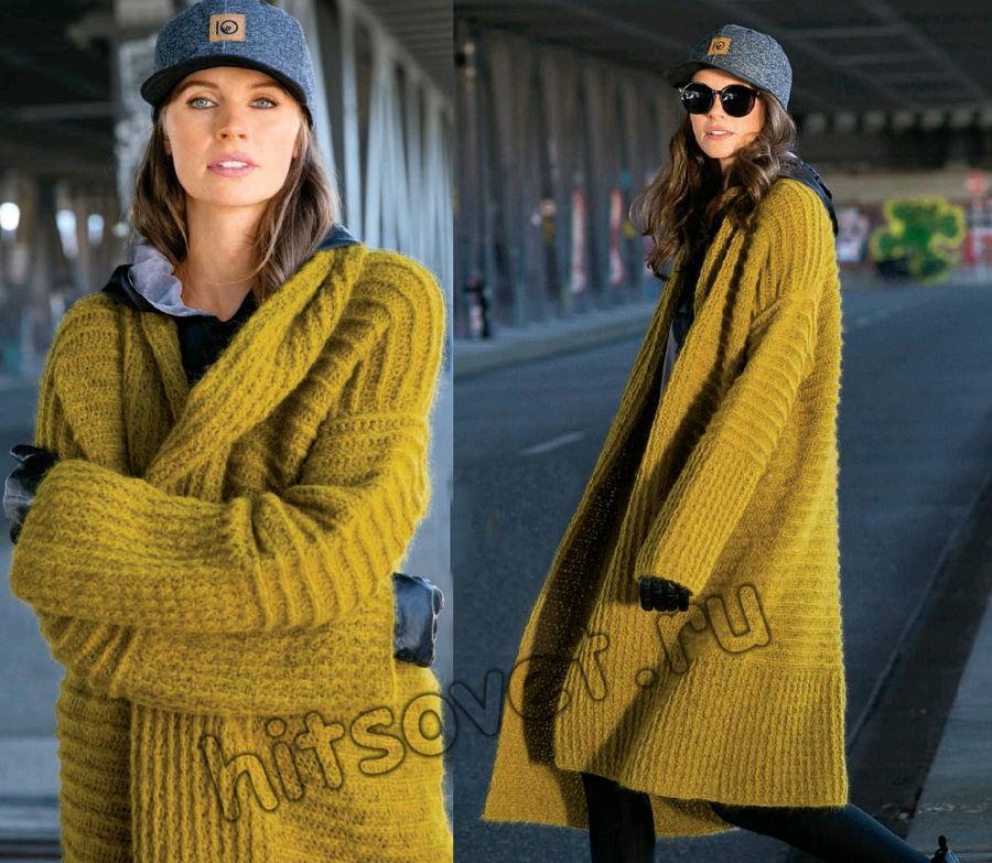Вязаное пальто крючком, фото 2.