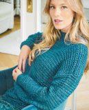 Модный женский свитер структурным узором