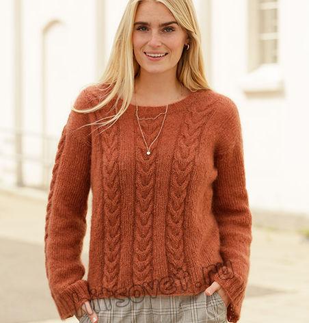 Вязание пуловера Autumn Trails, фото 1.