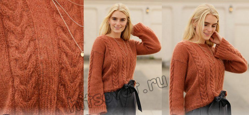 Вязание пуловера Autumn Trails, фото 2.