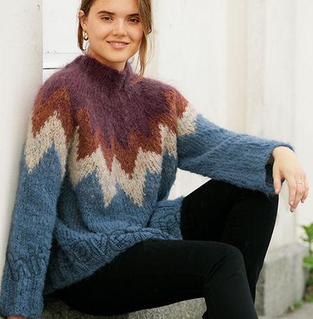 Вязание свитера Morocco Love, фото 1.