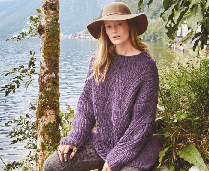 Свободный свитер полупатентной резинкой