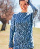 Пуловер реглан и стола спицами
