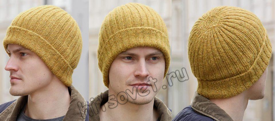 Вязаная мужская шапка Sun In The City, фото.