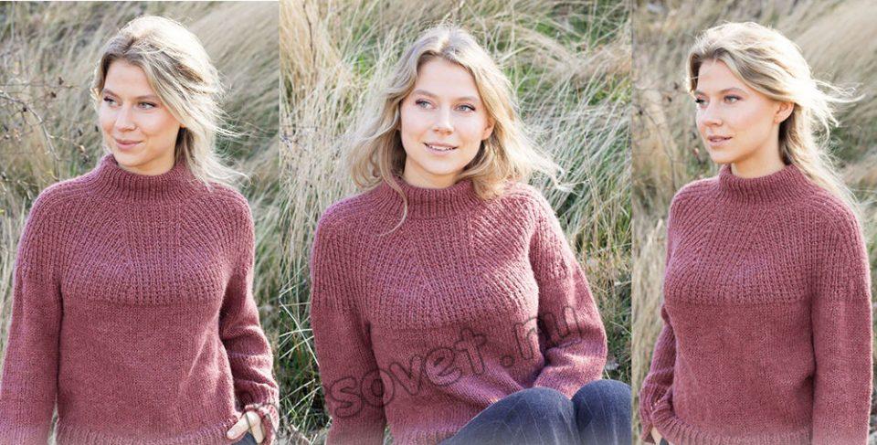 Вязание свитера Abstract Rose, фото.