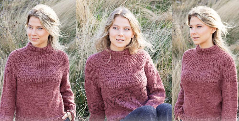 Вязание свитера Abstract Rose