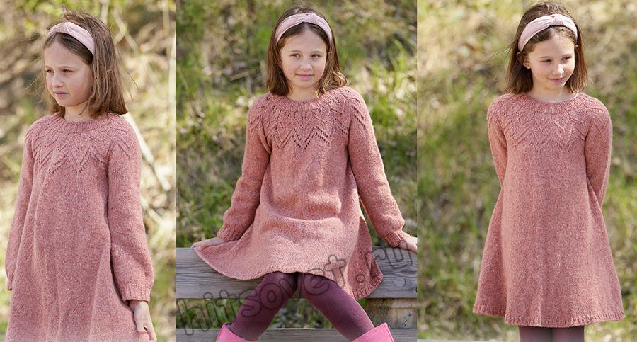 Вязаное платье для девочки Woodland Fairy, фото.