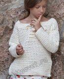 Вязаный пуловер для девочки крючком