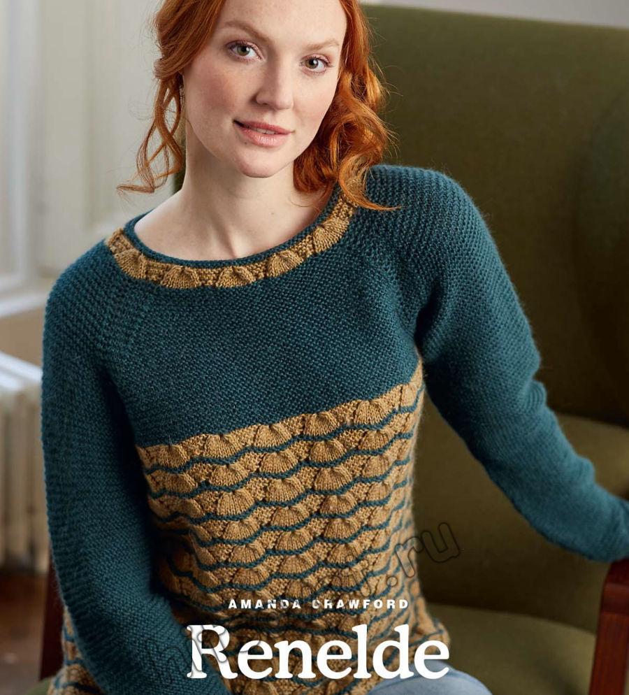 Вязание джемпера Renelde