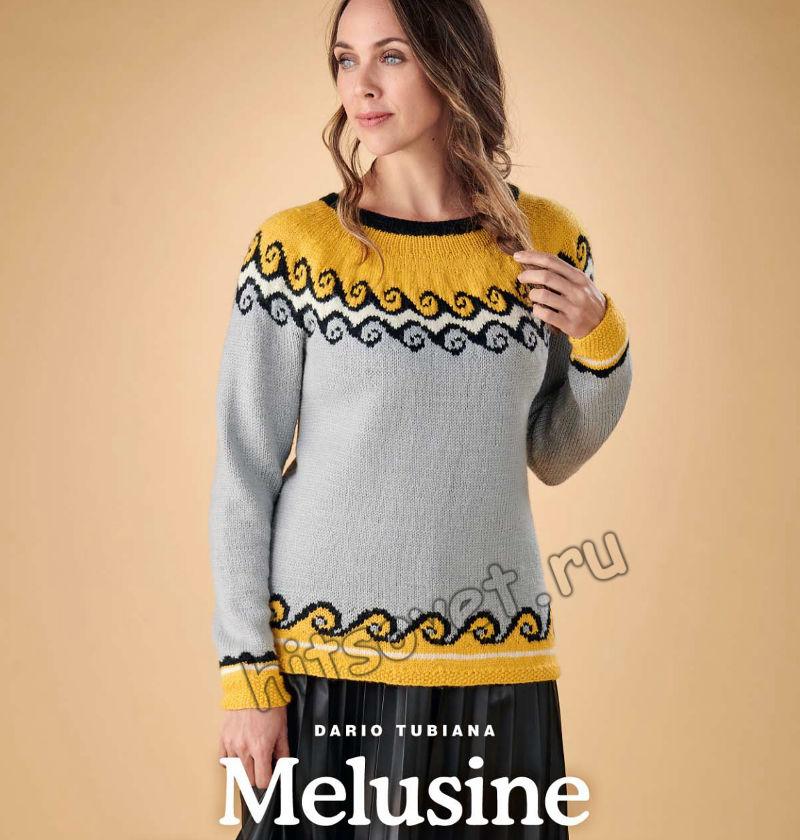 Вязание пуловера Melusine, фото 1.