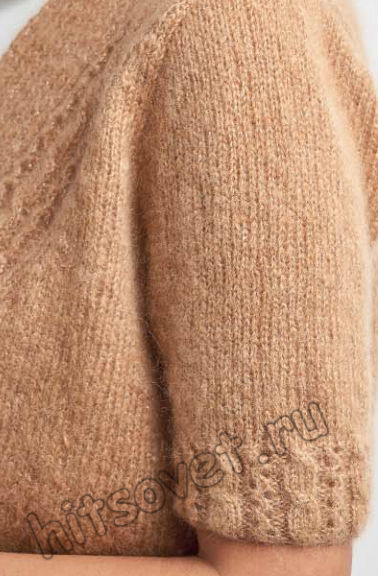 Вязание жакета Glitter, фото 2.