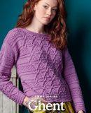 Вязаный рельефный пуловер Ghent