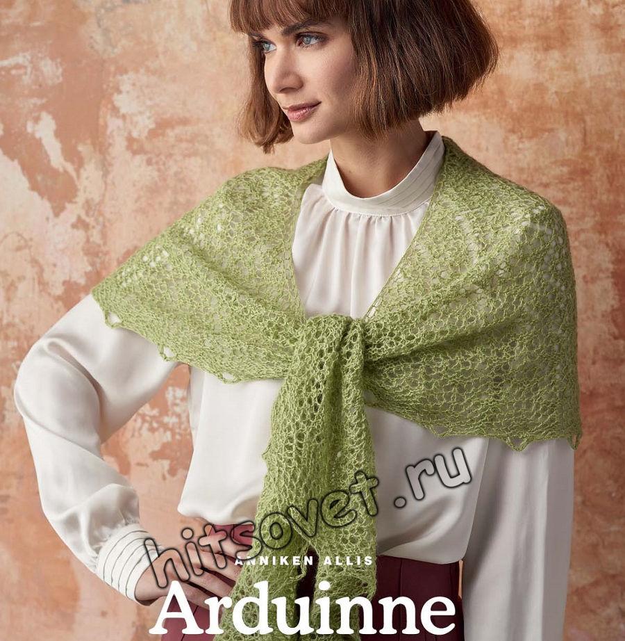 Ажурная невесомая шаль Arduinne, фото.