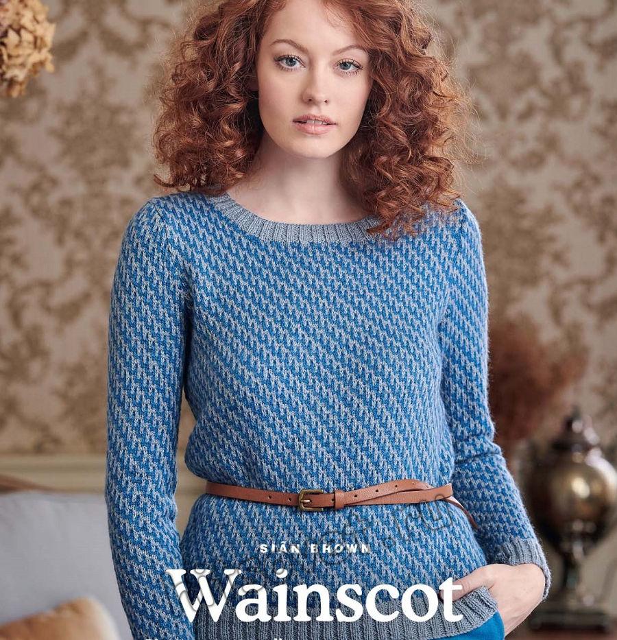 Классический пуловер спицами Wainscot, фото.