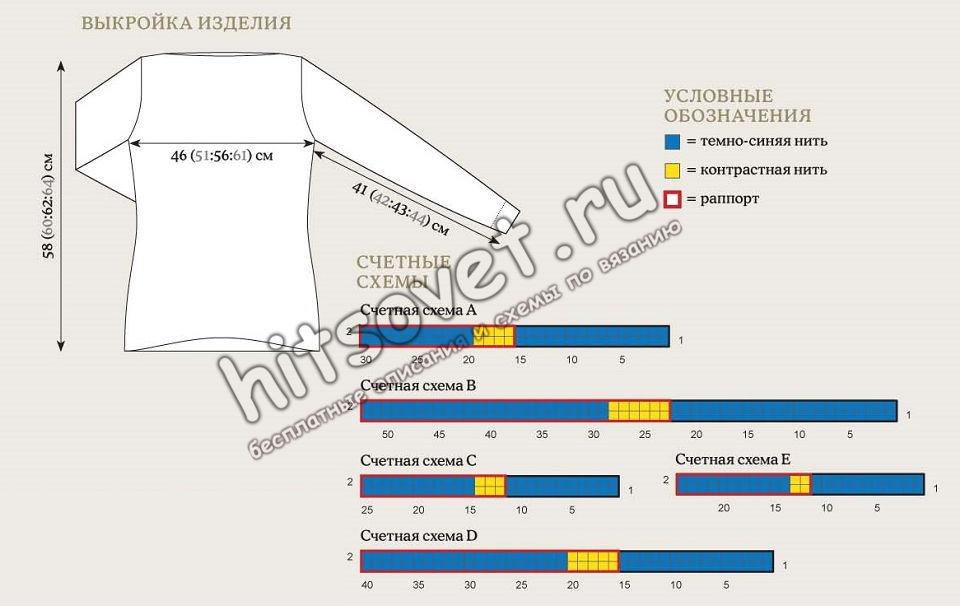 Вязание джемпера Cassiopeia, схемы.
