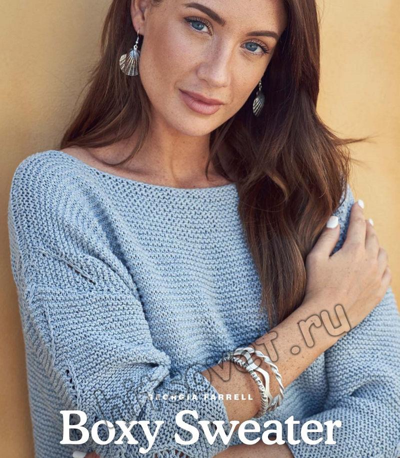 Вязание летнего пуловера Boxy Sweater, фото 1.