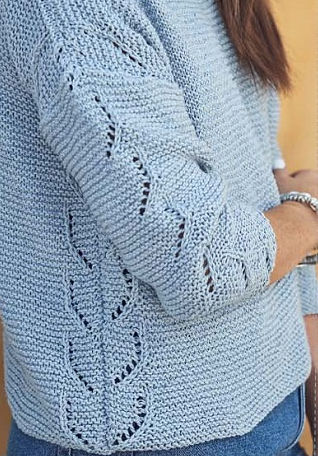 Вязание летнего пуловера Boxy Sweater, фото 2.