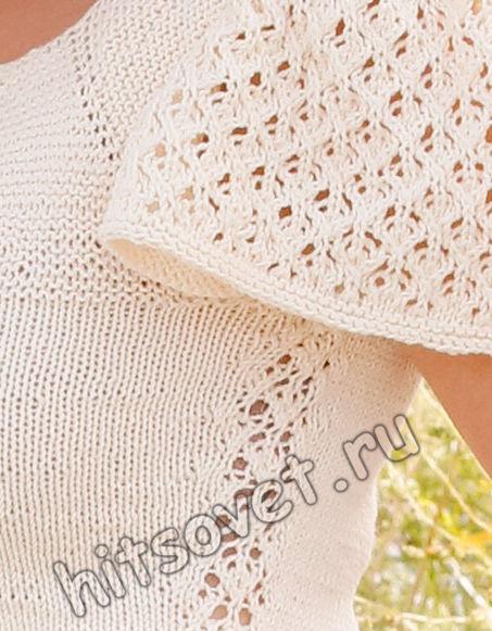 Вязание топа Mariposa, фото 2.