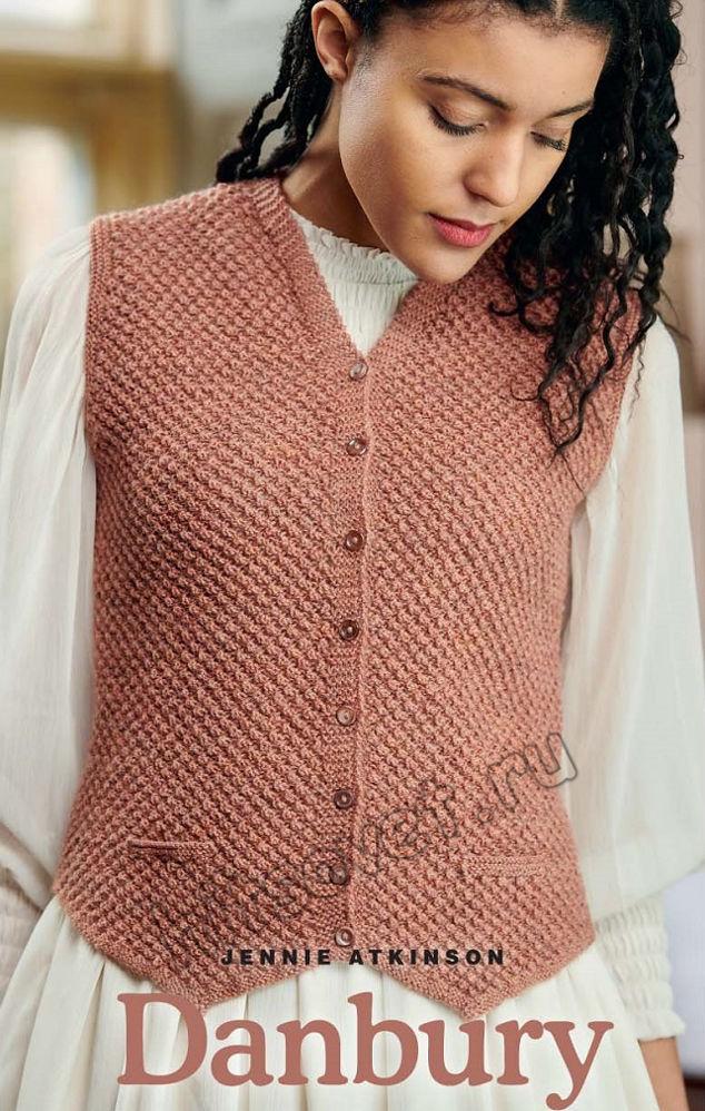 Вязание жилета Danbury, фото 1.