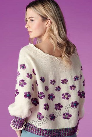 Женственный пуловер с оборками Ostara, фото 2.