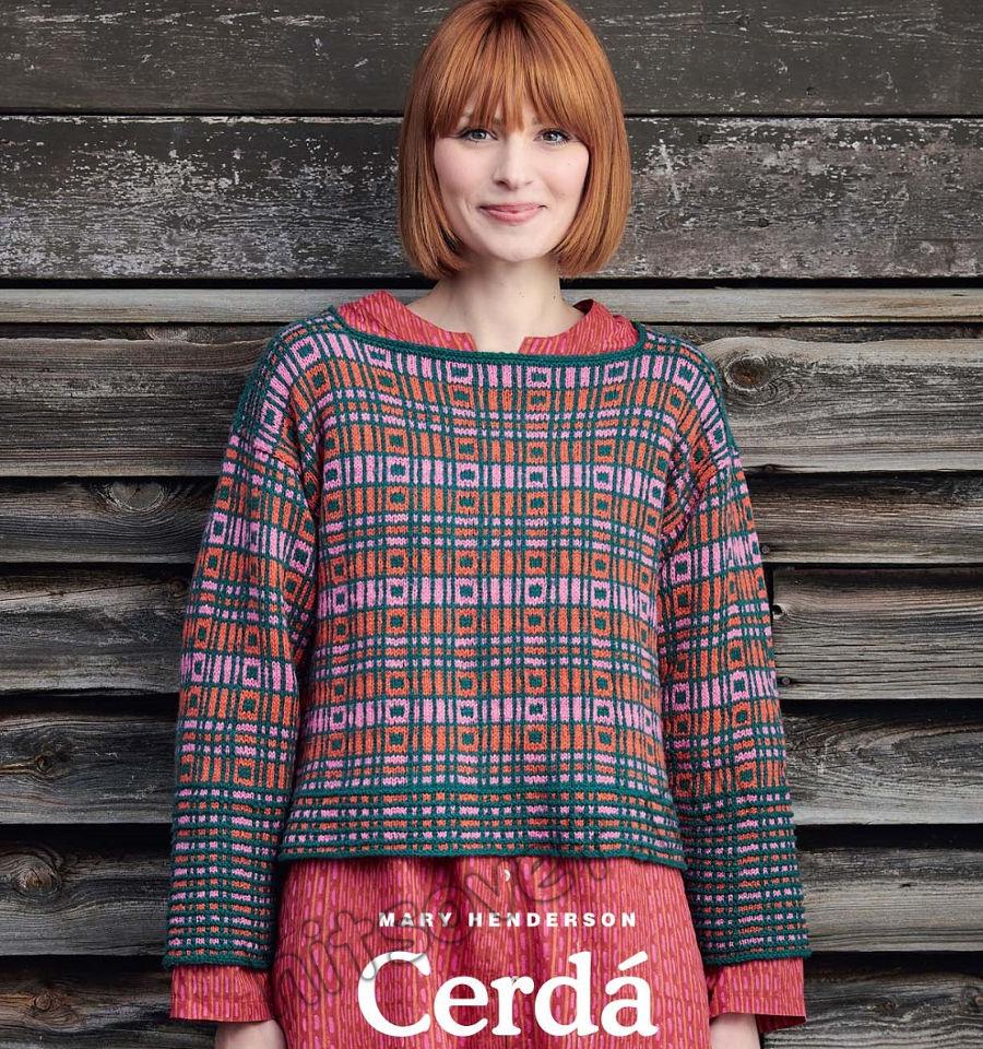 Стильный пуловер с геометрическим узором Cerda