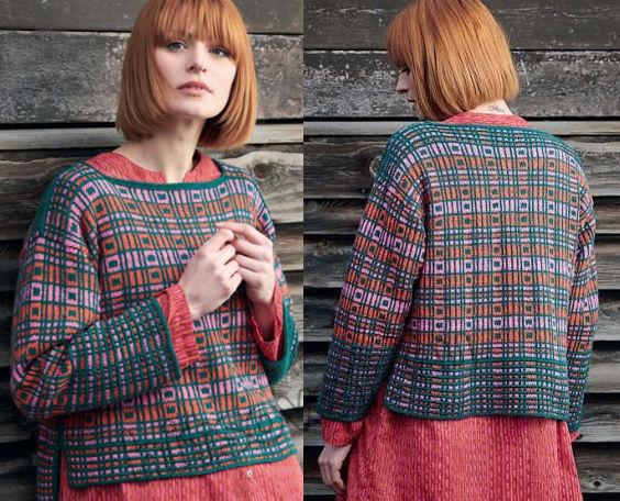 Стильный пуловер с геометрическим узором Cerda, фото 2.